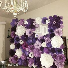 Take a look at the beautiful backdrop by @est.b.d  @Regrann from @ets.b.d -  I finally finished this flower wall backdrop. Thanks to mom and uncle for helping me installing it. To the #bride and #groom i hope you'll like it. #flowerwall #flowerbackdrop #paperflower #flowerpaper #craft  #craftychick #purple #plum #wedding #weddingflowers #photobackdrop #Regrann
