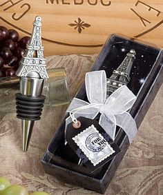 I really like these Eiffel Tower wedding favors they are so cute.