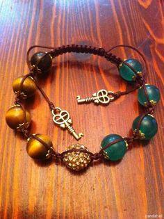 Braid beaded bracelet made by  Svetlana Kornilova from LC.Pandahall.com