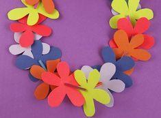 DIY Leis Paper Flower Lei Construction CraftsFlower