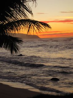 Sunset on North Shore -View from our rental -  Oahu