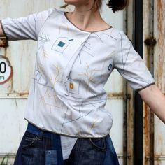 otiskla Dana Lindenthalová www.cz, ušila Irena Švamberová www. Chef Jackets, Canvas Prints, Printed, Fashion, Moda, Photo Canvas Prints, Fashion Styles, Prints, Fashion Illustrations