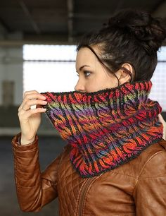 Ravelry: F729 Brioche Cable Cowl pattern by Vanessa Ewing