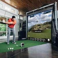 Golf Net - Improve That Golf Swing Using These Simple Tips Home Golf Simulator, Indoor Golf Simulator, Golf Tiger Woods, Golf Room, Golf Chipping Tips, Screen Enclosures, Golf Simulators, Golf Drivers, Golf Training