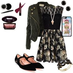 A fashion look from September 2015 featuring Mela Loves London dresses, CO jackets and Rochas flats. Browse and shop related looks.