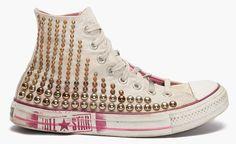 Converse Bess Hi Grade Converse Gold, Converse High, High Top Sneakers, Converse Chuck Taylor High, Chuck Taylors High Top, High Tops, Shoes, Fashion, Moda