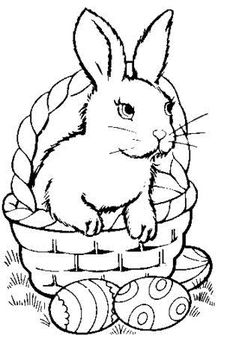 Easter coloring pages - Basket and Easter Eggs | !My coloring ...