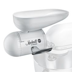 Shop for Wolfgang Mock Mockmill KitchenAid White Metal and Ceramic Grain Mill Attachment. Get free delivery On EVERYTHING* Overstock - Your Online Kitchen & Dining Shop! Kitchen Aid Mixer, Kitchen Appliances, Gluten Free Kitchen, Kitchenaid Stand Mixer, Kitchen Essentials, Cooking Tools, Ceramic Bowls, Can Opener, Cool Kitchens