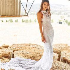 Prachtige trouwjurk van kant op maat bruidsjurk laten maken