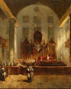 Jean-Baptist Tetar Van Elven - Interieur Van De Portugese Synagoge In Amsterdam
