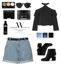 """•Black Sky•"" by domeroman on Polyvore featuring moda, Alice + Olivia, Christian Dior, NARS Cosmetics, Koh Gen Do y Alexander Wang"