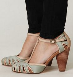 I love these Adele T-strap heel from Free People  $94