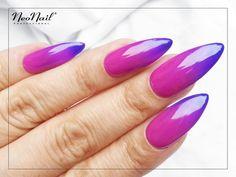 Fioletowe paznokcie hybrydowe / NeoNail