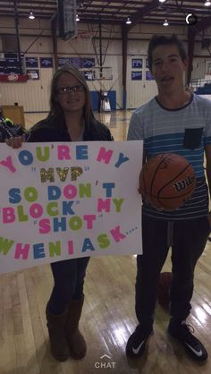 """How I asked my boyfriend to the dance the basketball says """"will you go to sadies with me?"""""""