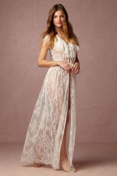 Letizia Lace Robe from @BHLDN for Honeymoon
