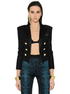 Fashion shopping balmain woman cheap in gallery - Dresses and the latest fashion trends 2018 Balmain Dress, Luxury Shop, High Collar, Latest Fashion Trends, Double Breasted, Leather Jacket, Blazer, Couture, Jackets