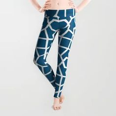 Blue Sapphire Geometric Graphic Art Pattern Leggings Geometric Graphic, Graphic Art, Best Leggings For Work, Pattern Leggings, Best Christmas Gifts, Custom T, Made Goods, Workout Leggings, Pattern Art