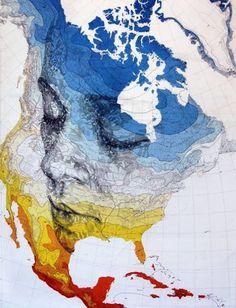 Cartography portrait by Ed Fairburn