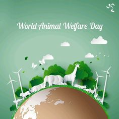 The love for other living creatures is the noblest attribute in a Human Being. Let's pledge to not harm animals and work on creating a better ecosystem. Pet Holidays, Navratri Wishes, Fitness 24, World Environment Day, Pet Day, Anytime Fitness, Animals Of The World, Animal Welfare, Gifs
