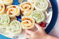 Party food - Monkey Tail Sandwiches (Cream cheese, carrot and sultana)