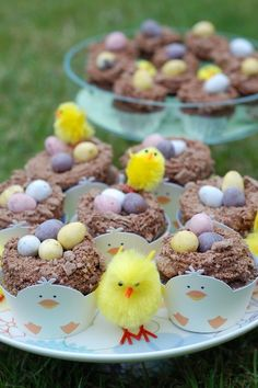 Chocolate Flake Easter Nest Cupcakes