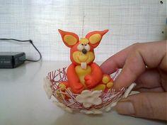 Zajacik vo vajicku by risskaa - SAShE.sk - Handmade Dekorácie