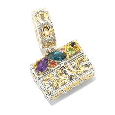 136-035- Gems en Vogue Multi Gemstone Handbag Drop Charm