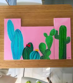 86 Stunning Art Canvas Painting Ideas for Your Home - Painting Ideas - Cactus Cactus Paintings, Diy Painting, Small Canvas Paintings, Art Diy, Art, Canvas Art Painting, Canvas Painting Diy, Diy Canvas Art, Cute Canvas Paintings