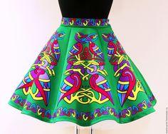 Купить Юбка для ирландских танцев - зеленый, ирландский стиль, ирландские танцы, irish dance, celtic