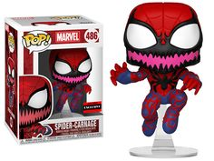 Funko have announced a new Spider-Carnage Pop Vinyl, which will be coming in May and will be an AAA Anime Exclusive. You can pre-order this figure now from [. Funko Pop Marvel, Funko Pop Spiderman, Spider Man Funko Pop, Batman Figures, Funko Pop Figures, Vinyl Figures, Action Figures, Funko Pop Toys, Funko Pop Vinyl