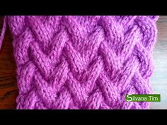Punto CANASTA. Tejido con dos agujas # 111 Patterns knitting - YouTube