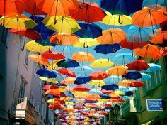 Techo de paraguas. Instalación