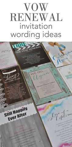 Vow Renewal Invitation Wording Ideas from Invitations by Dawn