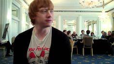 Rupert Grint on kissing Emma Watson HARRY POTTER 7 part 1