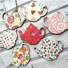 Decorative Decoupage Emma Bridgewater or Cath Kidston Teapots. FREE shipping to all UK addresses but great International shipping charges
