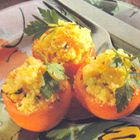 Gevulde tomaten met roerei uit de oven - recept - okoko recepten alleen dan zonder slagroom matuurlijk ik gebruik soya room