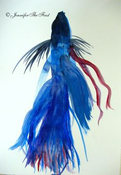 Betta Fish Tattoo Designs. My fishy looked like this. Love how flowy it is.