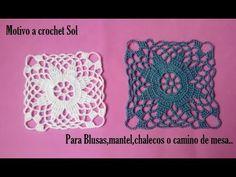 Motivo a crochet Sol