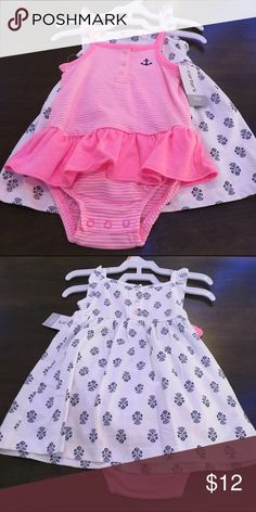 Carters NWT 12 months 2 piece dress and romper set Carters NWT 9 months 2 piece dress and romper set Carters Other