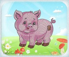 """Pig - Machine Embroidery Designs Set for a Babies and Children of a series """"Old…"""