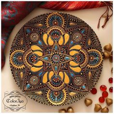 Мировой Декор Dot Painting Tools, Dot Art Painting, Stone Painting, Mandala Drawing, Mandala Painting, Mandala Art, Mandala Painted Rocks, Mandala Rocks, Point Paint