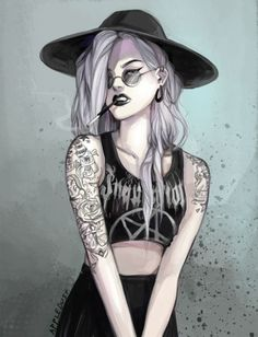 Image de girl, tattoo, and art