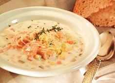 Délicieuse chaudrée de saumon jardinière recette | Consommezassez.ca
