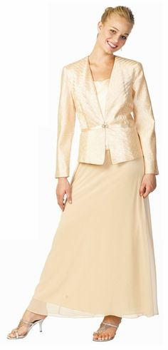 Gold mother of the bride groom dress with jacket formal dress more