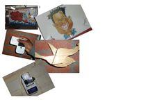 5 foto's: omschrijving van het foto's ,staan bij het bord creatieve foto's