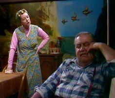 Coronation Street's Hilda Ogden and those  three flying ducks!  Now considered an icon of the show.
