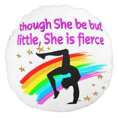 LITTLE BUT FIERCE GYMNAST ROUND PILLOW Calling all Gymnasts! Enjoy the best selection of Gymnastics Tees and Gifts from Zazzle.  40% Off Pillows 15% Off Sitewide Use Code: ZAZFLASHSAVE http://www.zazzle.com/mysportsstar/gifts?cg=196751399353624165&rf=238246180177746410   #Gymnastics #Gymnast #PersonalizedGymnast