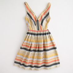candy stripes dress. j.crew factory.