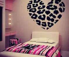 X Leopard Heart Wall Decals Removable Wall Decal Sticker DIY Art Decor Mural Vinyl Home Room Leopard Spot Heart Print Name Wall Decals, Removable Wall Decals, Wall Decal Sticker, Wall Stickers, My New Room, My Room, Decoration, Art Decor, Home Decor