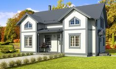 Simons Element: ALLEGRO 6 h/r + k - 182.0 m² Home Fashion, Mansions, House Styles, Home Decor, Decoration Home, Manor Houses, Room Decor, Villas, Mansion